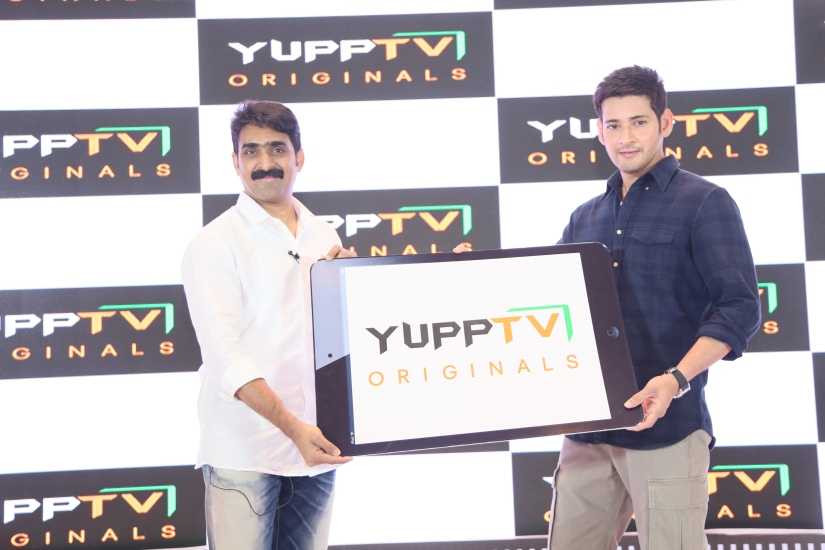 Uday Reddy- YuppTV CEO with Tollywood superstar Mahesh Babu